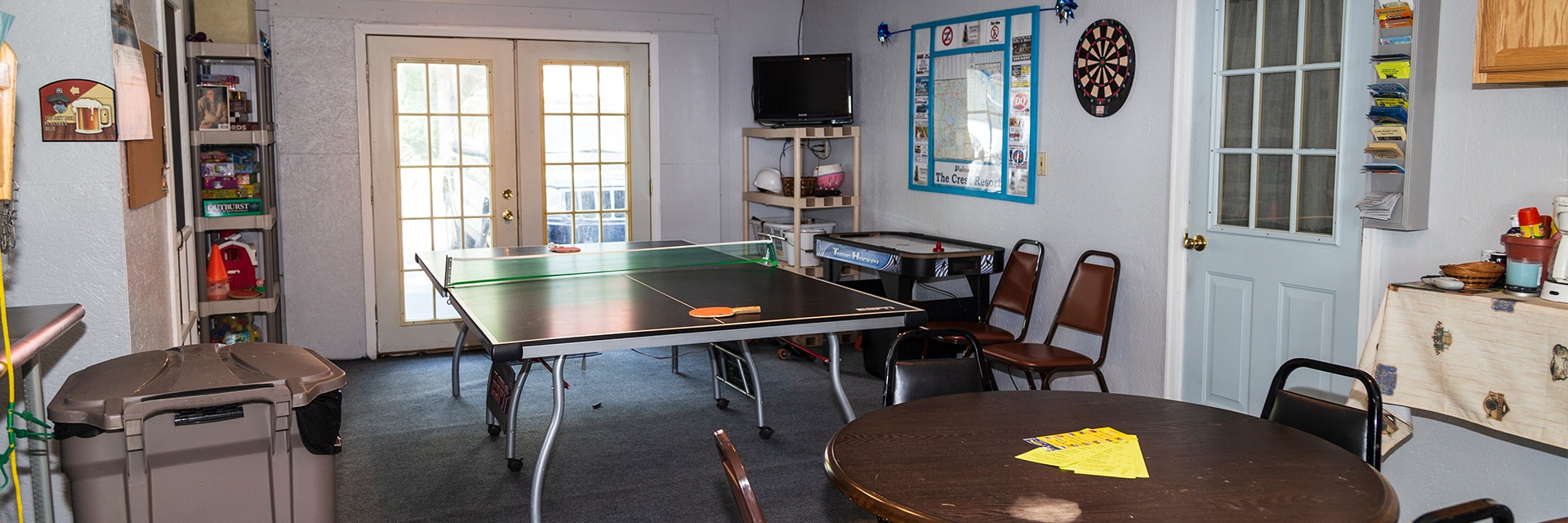 View of the Family Rec Room includes Ping Pong Table, Board Games...