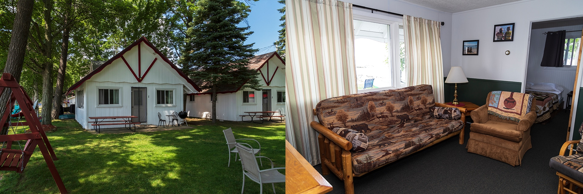 Cabin #1 - 2 Bedroom/1 Bath Cabin on the Water (Cabins 2, 3, and 4 are Similar)