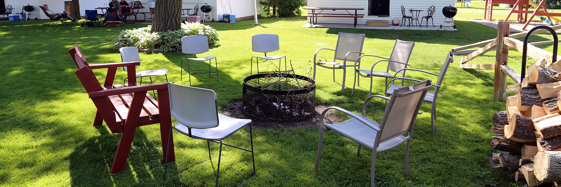 View of the Bonfire Area in the Courtyard
