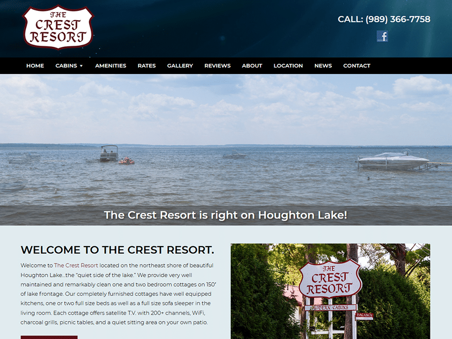 The Crest Resort Launches New Website